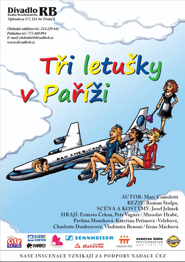 Tři letušky v Paříži